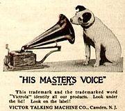 logo His Master's Voice en 1921