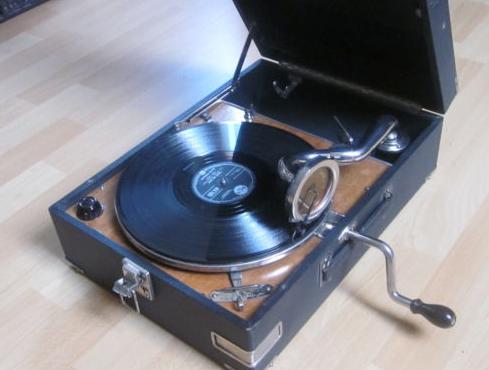Tocadiscos Gramofono discos Pizarra - Mecánico