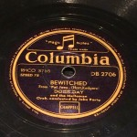 "disco pizarra gramofono ""Bewitched"" (Embrujada)"