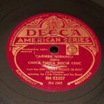 """""""Chica chica boom chic"""" - disco pizarra gramofono"""