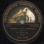 logo Gramophone Company - His Master's Voice en 1910