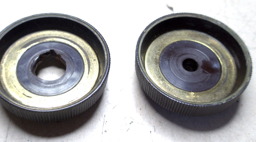 Reconstrucción de botones de radios antiguas. Radio Marconi am289 - Boton dial - 1